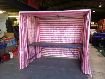 example 7x8 Table Top Stall