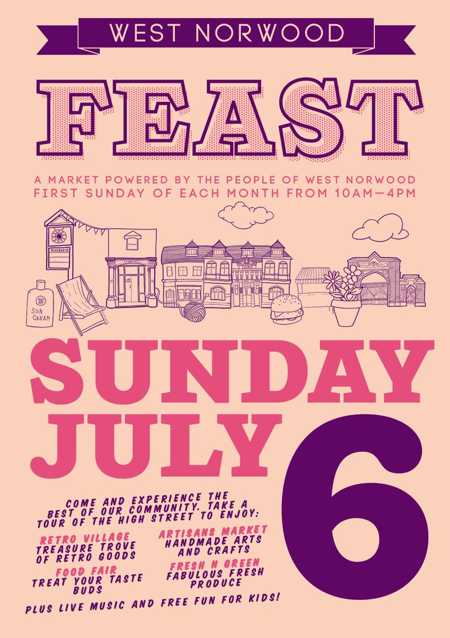 Feast Flyer July