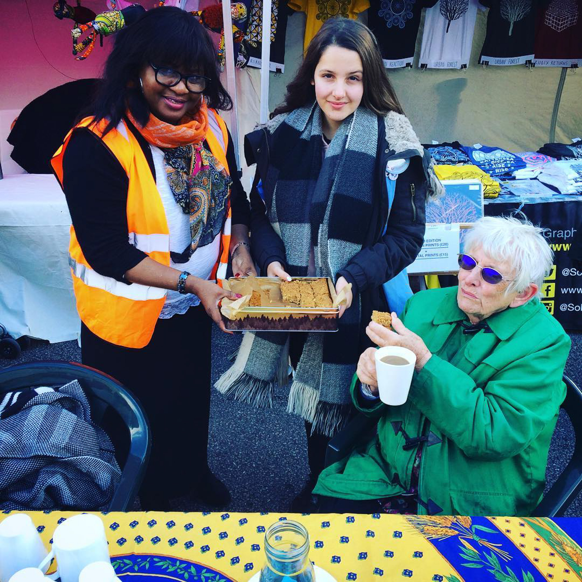 Free tea for pensioners at Artisans' Market West Norwood Feast
